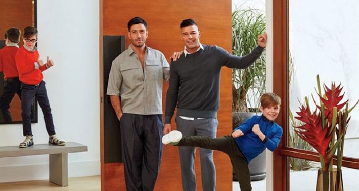 Ricky Martin e marido mostram sua casa em Los Angeles